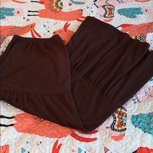 Plus Brown Maxi Skirt